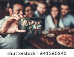 selfie time  handsome friends... | Shutterstock . vector #641260342