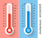 celsius and fahrenheit... | Shutterstock .eps vector #641263105