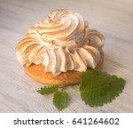 coconut tart on white... | Shutterstock . vector #641264602