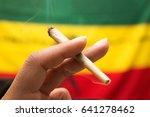 marijuana spliff | Shutterstock . vector #641278462