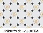 seamless oriental ornament in... | Shutterstock . vector #641281165