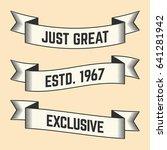 set of trendy vector vintage...   Shutterstock .eps vector #641281942