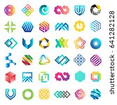 big vector set of logo design.... | Shutterstock .eps vector #641282128