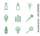 glow icons set. set of 9 glow... | Shutterstock .eps vector #641283082