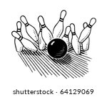 ten pin bowling   retro clipart ...