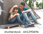 afternoon in skate park | Shutterstock . vector #641290696
