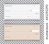 set of blank bank check with... | Shutterstock .eps vector #641292292