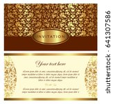 invitation card vector design   ... | Shutterstock .eps vector #641307586