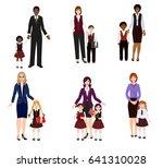 parents send children to school ... | Shutterstock .eps vector #641310028