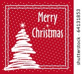 red merry christmas background... | Shutterstock .eps vector #64131853