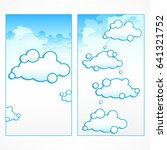 clouds infographic ... | Shutterstock .eps vector #641321752