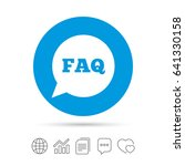 faq information sign icon. help ... | Shutterstock .eps vector #641330158
