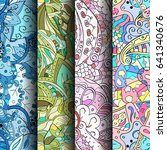 set of tracery colorful... | Shutterstock .eps vector #641340676