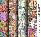 set of tracery colorful...   Shutterstock .eps vector #641340775