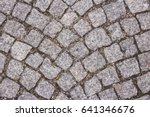 stone road texture in the park | Shutterstock . vector #641346676