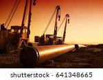 building gas pipeline | Shutterstock . vector #641348665