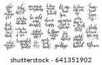 set of 25 black and white... | Shutterstock . vector #641351902