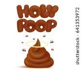 Holy Poop Concept Emoji Icon....