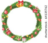 christmas wreath | Shutterstock .eps vector #64135762