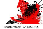 splash paint art background ...   Shutterstock .eps vector #641358715