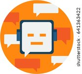 chatbot abstract icon... | Shutterstock .eps vector #641363422