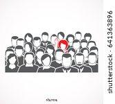 illustration of a man raising... | Shutterstock .eps vector #641363896