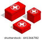 medical first aid kits. set of... | Shutterstock .eps vector #641366782
