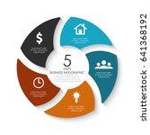 vector round infographics....   Shutterstock .eps vector #641368192