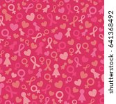 seamless pattern with pink... | Shutterstock .eps vector #641368492