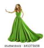 woman green dress  fashion... | Shutterstock . vector #641373658