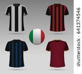 set of italian football kit  t... | Shutterstock .eps vector #641374546