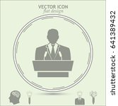 speaker icon. orator speaking... | Shutterstock .eps vector #641389432