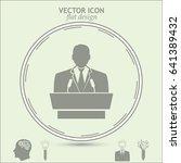 speaker icon. orator speaking... | Shutterstock .eps vector #641389432