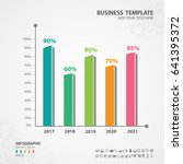 abstract infographics number... | Shutterstock .eps vector #641395372