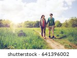 travel  hiking  backpacking ... | Shutterstock . vector #641396002