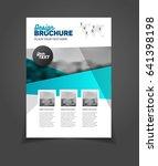 blue brochure template for...   Shutterstock . vector #641398198