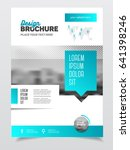 blue brochure template for... | Shutterstock . vector #641398246