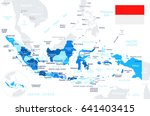 indonesia map and flag   highly ... | Shutterstock .eps vector #641403415