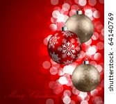 christmas background with... | Shutterstock .eps vector #64140769