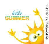 hello summer funky rock n roll... | Shutterstock .eps vector #641413318