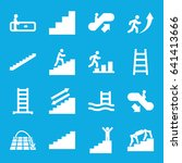 staircase icons set. set of 16...   Shutterstock .eps vector #641413666
