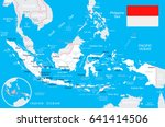 indonesia map and flag   highly ... | Shutterstock .eps vector #641414506