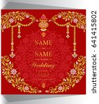 wedding invitation card... | Shutterstock .eps vector #641415802
