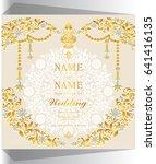 wedding invitation card...   Shutterstock .eps vector #641416135