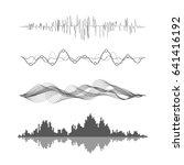 vector music sound waves set.... | Shutterstock .eps vector #641416192