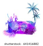 abstract painted splash shape... | Shutterstock .eps vector #641416882