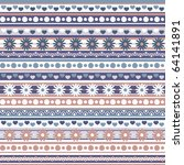 vector pattern with hearts and... | Shutterstock .eps vector #64141891