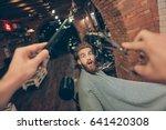 oh noo  new hairdresser.... | Shutterstock . vector #641420308