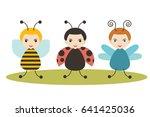 beetles  cartoon ladybird  bee... | Shutterstock .eps vector #641425036