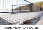 long wooden tool leaving... | Shutterstock . vector #641429386
